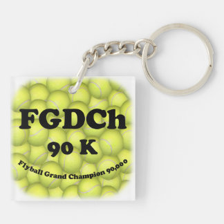 FGDCh 90 K, Flyball Grand Champ, 90,000 Points Key Ring