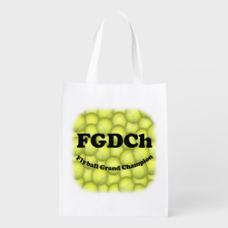 FGDCh, Flyball Grand Champ, 30,000 Points Reusable Grocery Bag