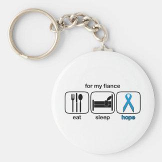 Fiance Eat Sleep Hope - Lymphoma Key Chains