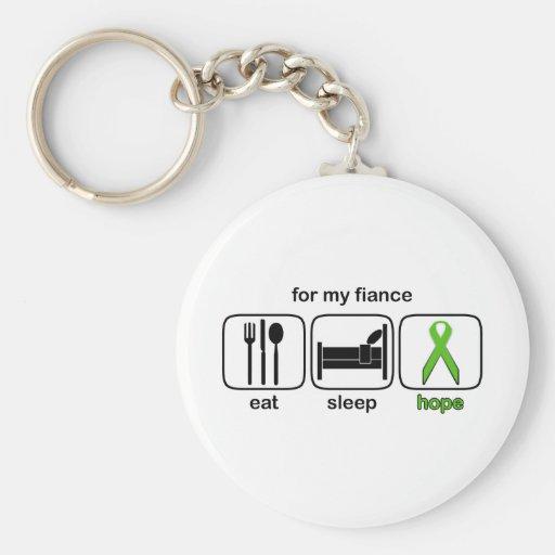 Fiance Eat Sleep Hope - Lymphoma Keychains