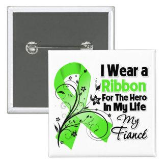 Fiance Hero in My Life Lymphoma Ribbon 15 Cm Square Badge