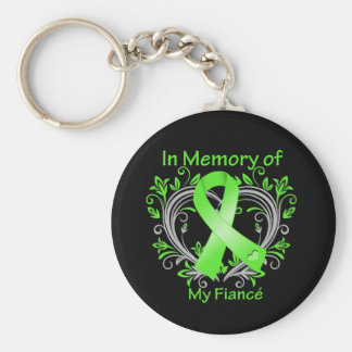 Fiance - In Memory Lymphoma Heart Keychains