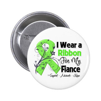 Fiance - Lymphoma Ribbon 6 Cm Round Badge