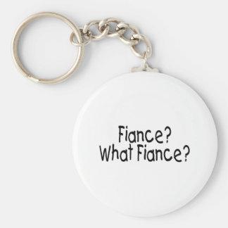 Fiance? What Fiance? Basic Round Button Key Ring