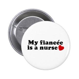 Fiancee Nurse 6 Cm Round Badge