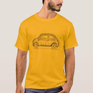 Fiat 500 Car Classic Vintage Hiking Duck T-Shirt