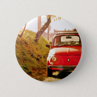 Fiat 500, Cinquecento in Italy 6 Cm Round Badge