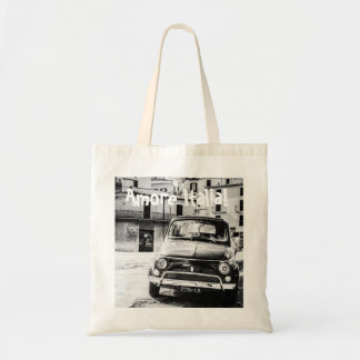 Fiat 500, cinquecento in Italy, classic car gift Budget Tote Bag