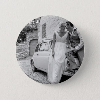 Fiat 500 in Italy, Classic wedding gifts 6 Cm Round Badge
