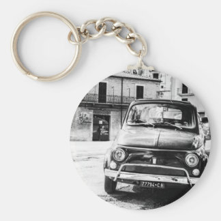 Fiat 500 in Italy retro travel gifts Key Ring
