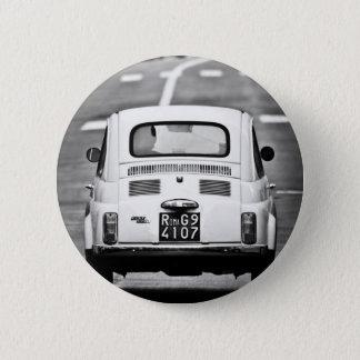 Fiat 500 in Rome 6 Cm Round Badge