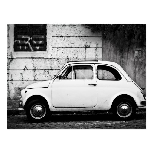 Fiat 500 in Rome, Italy Postcards
