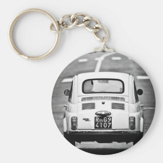 Fiat 500 in Rome Basic Round Button Key Ring
