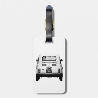 Fiat 500 in Rome luggage tag, Italy. Luggage Tag