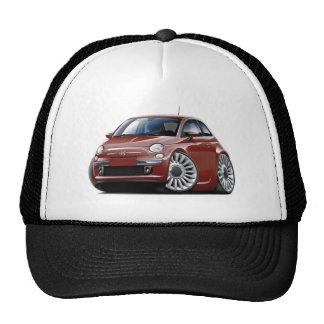 Fiat 500 Maroon Car Cap