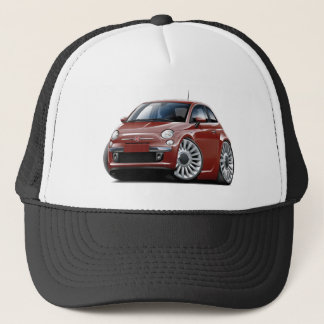 Fiat 500 Maroon Car Trucker Hat