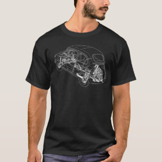 Fiat 500 Outline - Front only T-Shirt