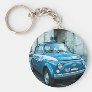 Fiat 500 Police car in central Italy Keychain