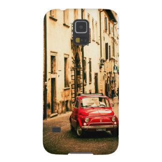 Fiat 500, Red retro car in Italy Samsung s5 case