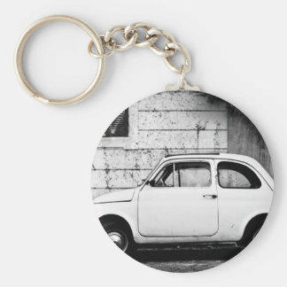 Fiat 500 Rome Basic Round Button Key Ring