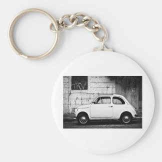 Fiat 500 Rome, Italy Basic Round Button Key Ring