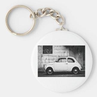 Fiat 500 Rome, Italy Basic Round Button Key Ring