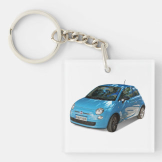 Fiat 500 Square (single-sided) Keychain