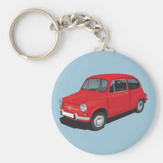 Fiat 600D red Key Ring