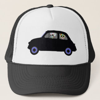 Fiat With 2 Sugar Skulls Watching You Trucker Hat
