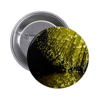 Fiber optic abstract. 6 cm round badge