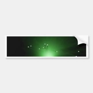 Fiber optic abstract. bumper sticker