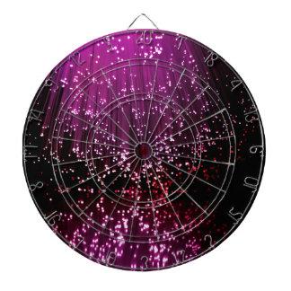 Fiber optic abstract. dartboard