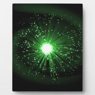 Fiber optic abstract. plaque