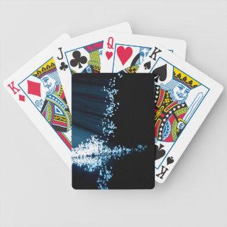 Fiber optic abstract. poker deck