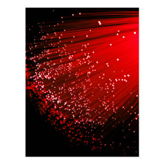 Fiber optic abstract. postcard