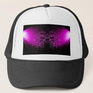Fiber optic abstract. trucker hat