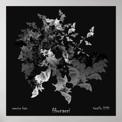 Fibonacci Bats Poster Print