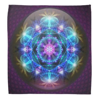 Fibonacci Flower Mandala Bandanna
