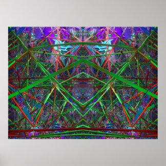 Fibonacci Geometric Space Poster