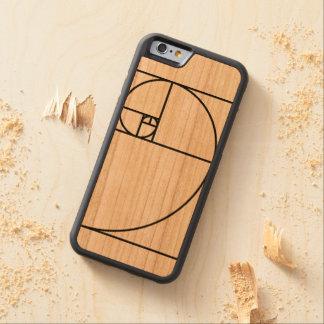 Fibonacci golden ratio - unique mathematical art carved cherry iPhone 6 bumper case