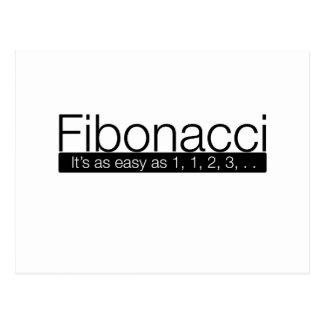 Fibonacci - it's as easy as 1, 2, 3, . . postcard