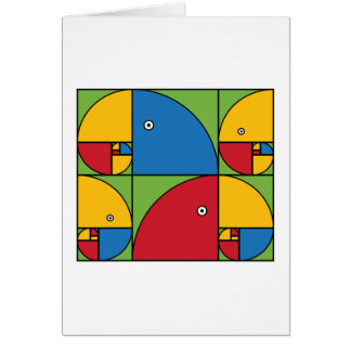 Fibonacci Parrots Card