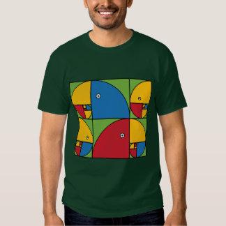 Fibonacci Parrots Tees