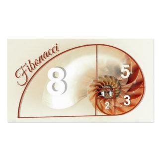 Fibonacci Sequence Mathematics, Business Cards