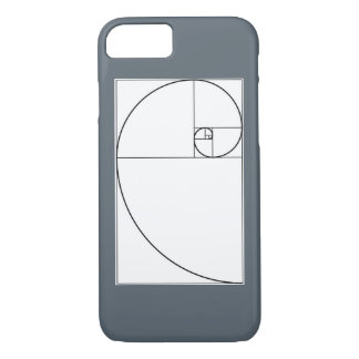 Fibonacci spiral cell phone case