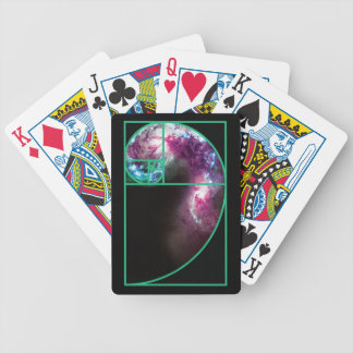 Fibonacci Spiral Galaxy Bicycle Playing Cards