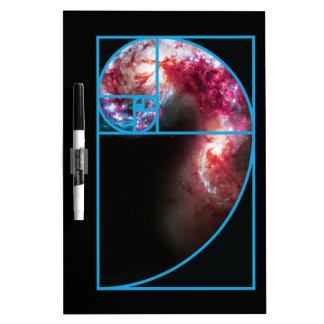 Fibonacci Spiral Galaxy Dry Erase Board
