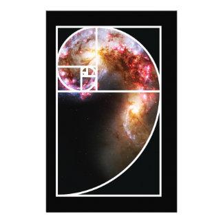 Fibonacci Spiral Galaxy Personalized Stationery