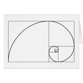Fibonacci Spiral: Golden Ratio Card
