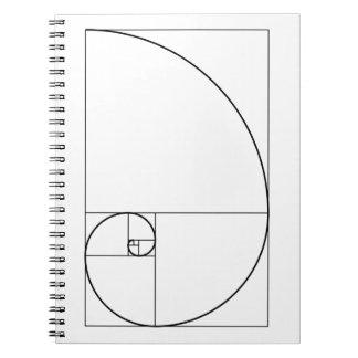 Fibonacci Spiral Golden Ratio Notebooks